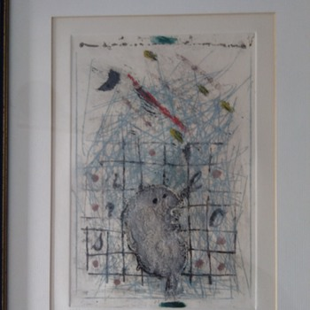 James Coignard French Abstract artist limited edition print - Fine Art