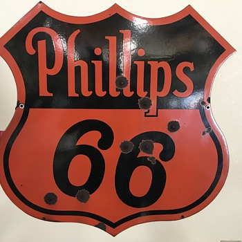 Phillips 66 2 ft  double sided sign  - Petroliana