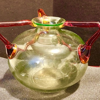 Ernst Steinwald or Kralik 3-handled vessels - Art Glass