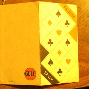 Vintage Gulf advertising Bridge Tally cards