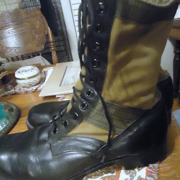 Vietnam Jungle Boots US Army circa 1960's!  From Goodwill $10.00 and my size!