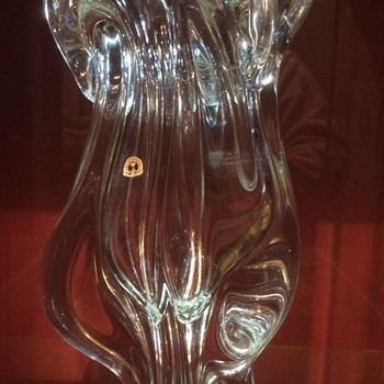 My clear glass josef hospodka vase - Art Glass