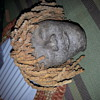 antique hand molded stone or pottery head ¿