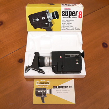 1967 Emdeko EM8500 Super 8 Camera with Box