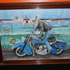 vintage indian motocycle water color