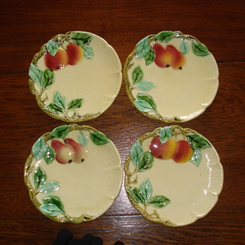 Apples and Pears Art Nouveau Majolica plates