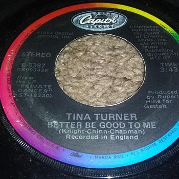 TINA TURNER...ON 45 RPM VINYL - Records