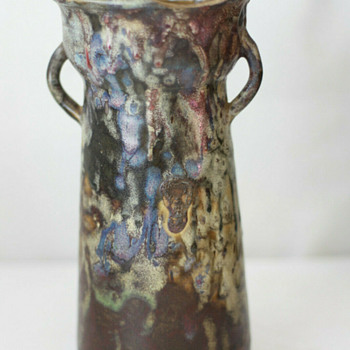 Drip Glaze Vase by Eugene Lion - Early 20th Century - Pottery