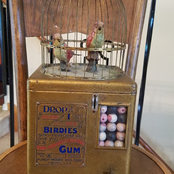 Singing Birdcage Gumball Machine - Coin Operated