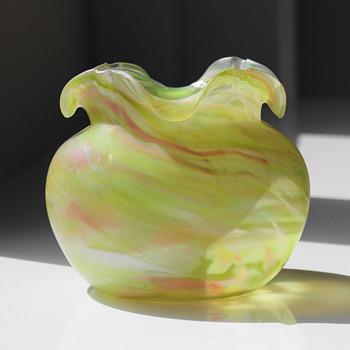 Rindskopf Marbled Vase - Art Glass