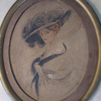 victorian lady pastel miller high life coke gal ?