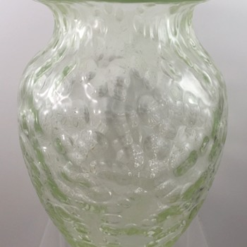 Unusual Loetz Diaspora vase, uranium glass ground, ca. 1902 - Art Glass