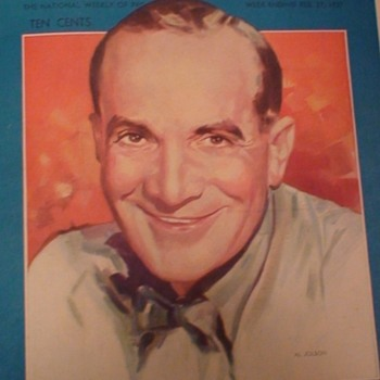 Radio Guide 1937 Al Jolson Cover