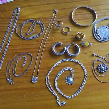 Today's Silver Haul, Flea Market Finds - Fine Jewelry