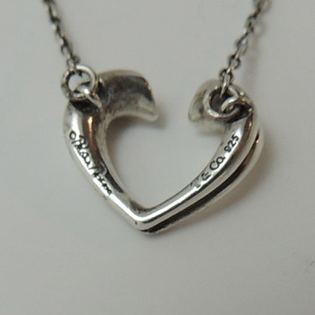 Paloma Picasso Tiffany & Co. Necklace with Heart Pendent - Sterling Silver