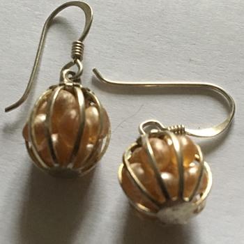 Vintage silver earrings  - Silver
