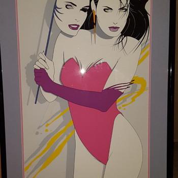 "Nagel Style Preciado limited print 1980s american psycho style 24"" x 48"" - Fine Art"