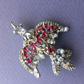 My Favorite Rhinestone Bird Brooch  - Costume Jewelry