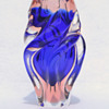 "CHRIBSKA ""Twist"" - cobalt and rose"