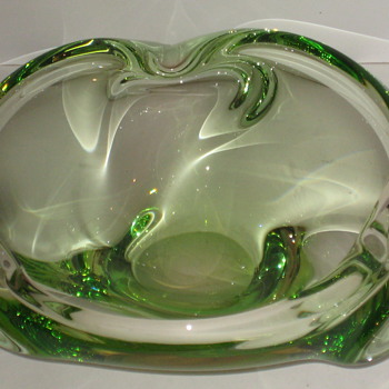 Green Dish - Art Glass