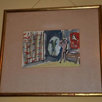Mid-century Modern Painting by Mario Aiello - Fine Art
