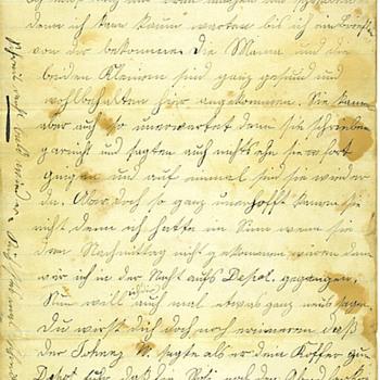 1879 Handwritten Letter, written in German - Paper