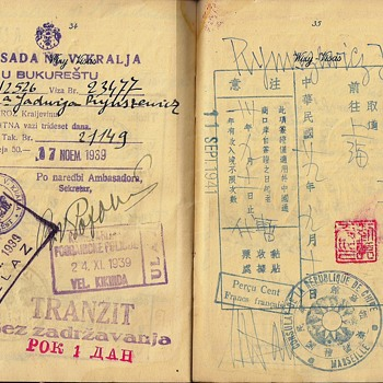 WW2 officially used Polish passport