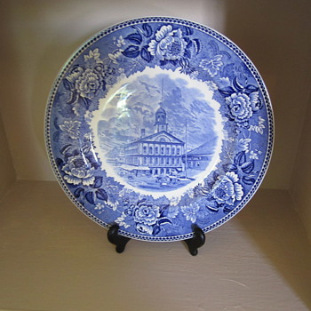 Blue and White Plate - Faneuil Hall in Boston? - China and Dinnerware