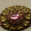Twenties czech glass brooch
