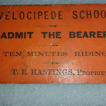 "1870 Velocipede School ""Ten Minutes Riding"" - Paper"