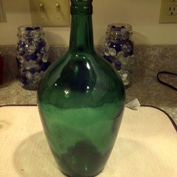 nice green flask like whiskey/liquor bottle
