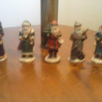 Lead Santa Claus Set of 5