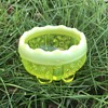 Victorian Primrose Pearline glass salt by George Davidson of Gateshead