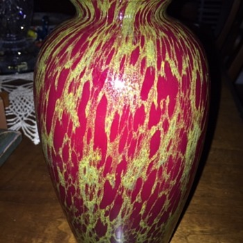 Blown Art Glass Vase Unknown Maker - Art Glass