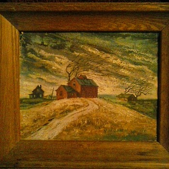 "Two Small Paintings By V. Hoffman 8""x 10"" and 10""x 14""/Circa 1956-1969 - Fine Art"