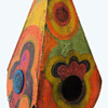 1967 Psychedelic Dan Shupe Hand Painted Folk Art Wooden Lamp Shade