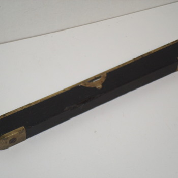 """Small Heavy Brass and Wood Level - 9"""" Long"""