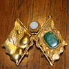 Sun Yat-sen-Kuomintang (KMT) Pre-Revolution Chinese 24K  Gold Flag Pin/Brooch (with opal and jade)