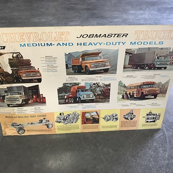 Original  1954 and 1964 Chevy new truck dealer posters  - Classic Cars