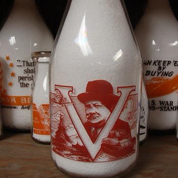 LAMBTON KENT CREAMERIES...PETROLIA & WALLACEBURG CANADA...WINSTON CHURCHILL MILK BOTTLE - Bottles