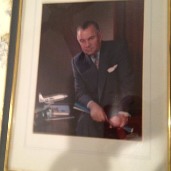 """LAWRENCE """"LARRY"""" DALE BELL, FOUNDER OF BELL AIRCRAFT, ORIGINAL FABIAN BACHRACH PHOTO - Military and Wartime"""