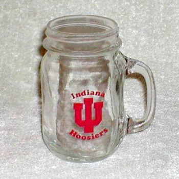 "Indiana University ""Hoosiers"" Glass Mug - Glassware"