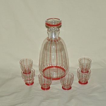 Liqueur Set Made in Czechoslovakia - Glassware