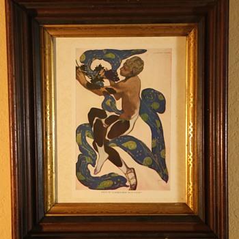 Leon Bakst 1916 Print from Serge de Diaghileff's Ballet Russe Souvenir