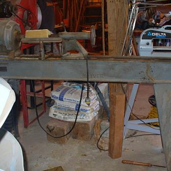 Oliver Wood Turning Lathe - Tools and Hardware