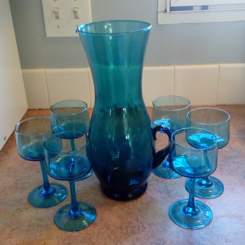Blenco Pitcher with 6 glasses - Art Glass