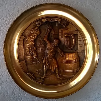 """Brass Charger Entitled """"The Cooper"""" Thrift Shop Find $5.00 - Arts and Crafts"""