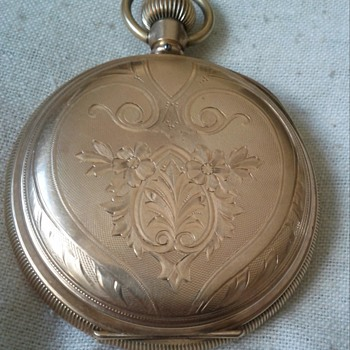 WALTHAM 14KT GOLD POCKET WATCH # ON INSIDE LID 510350