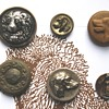 Antique Buttons with Dogs and Other Animals