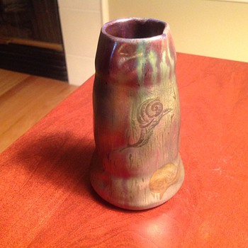 Colorful Irredecent Vase - Pottery